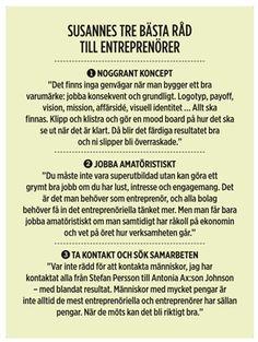 Susanne Liljenbergs bästa råd