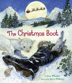 Upon first reading The Christmas Boot (Dial Books for Young Readers, Penguin Young Readers Group, an imprint of Penguin Random House LLC, October 18, 2016) written by Lisa Wheeler with illustrations by Jerry Pinkney I was visibly moved.  You will be too.