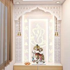 Pooja room design Puja room modern walls & floors by inception design cell modern Pooja Room Design, Door Design, Modern Room, Pooja Rooms, Temple Design For Home, Room Wallpaper, Room Door Design, Pooja Room Door Design, Modern Style Bedroom