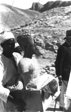 Picture taken in 1922 while transporting one of the contents found inside the tomb of king Tut, Luxor, Egypt.