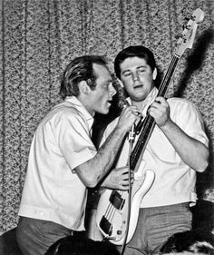 Mike Love & Brian Wilson. In my opinion, they gave Paul McCartney & John Lennon a run for their money as singer/song writers.
