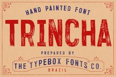 #Trincha #Typeface - Grunge #Decorative Download here: https://graphicriver.net/item/trincha-typeface/19611500?ref=alena994