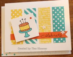 www.stampinkreations.com, Endless Birthday Wishes, Brights DSP, Stampin' UP!