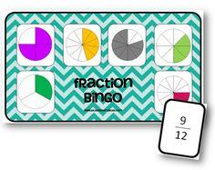 Fraction Bingo - jeu sur les fractions - La classe de Mallory