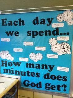church bulletin board pumpkin autmun | Church Bulletin Board For Teen Room How Much Of Our Time Does God Get ...