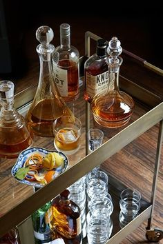 Bar Cart on wheels that have everything in one place