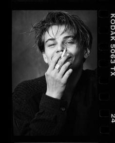 'Leonardo DiCaprio- Smoking ' Poster by Hayden Befort - actors Leonardo Dicaprio Smoking, Young Leonardo Dicaprio, Beautiful Boys, Pretty Boys, Film Mythique, Leonardo Dicapro, Looks Black, Photos Tumblr, Cute Guys
