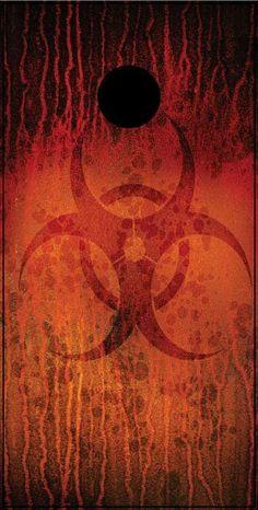 Bio Hazard Cornhole Board