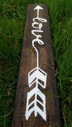 Rustic Salvaged Love Quote Arrow on Wood Pallet by UpcycleCharm