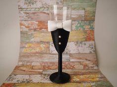 Copas de cristal decoradas. Decorated cup wedding