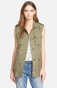 Treasure&Bond+Longline+Military+Vest+available+at+#Nordstrom