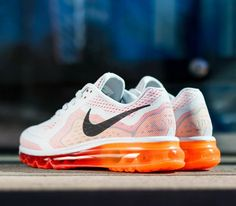 Nike Air Max 2014 WMNS-Pur Platinium-Black-Laser Crimson-Total Orange