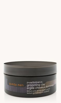 aveda men pure-formance™ grooming clay    ★★★★★  ★★★★★  4.7 out of 5 stars. Read reviews. 4.7  (270) Write a review  . This action will open a modal dialog. Creates texture with a strong, pliable hold and matte finish. Lightweight formula gives you control to create any style.   2.5 fl oz/75 ml Purchase One Time  ? Earn 365 Pure Privilege Points  CA $36.50