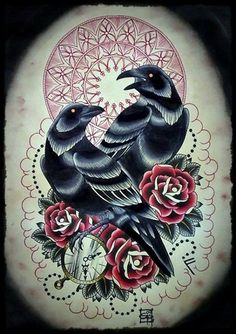 halloween tattoos   Neo Traditional Tattoo Flash