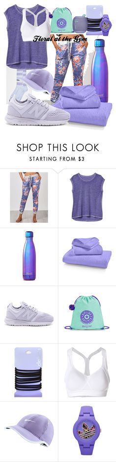"""Floral Print Items: Joggers"" by kayce35 ❤ liked on Polyvore featuring Cav Empt, Gap, S'well, Martha Stewart, New Balance, Kipling, adidas and NIKE"