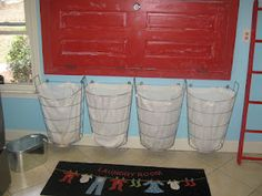 Laundry room. Door folding table