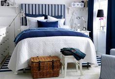 cabeceira de cama com listras