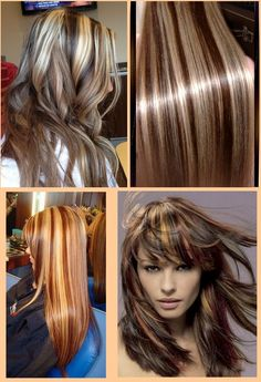 Brown Hair With Blonde Highlights & Lowlights