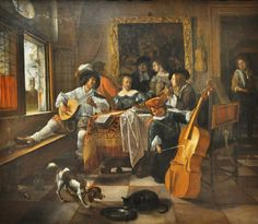 Jan Steen (1626–1679, Dutch) The Family Concert, 1666