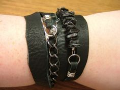 How to make a leather cuff. Leather Scrap Wrap Bracelet - Step 6