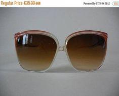 aa2ca585b187 ON SALE 20% Oversized vintage sunglasses 70 80 sunglasses. 80 s Sunglasses