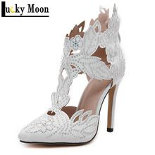 4 designs mode 2016 femmes chaussures Sexy femme pompes Style européen talon  haut bout pointu blanc 4b32bffebbae