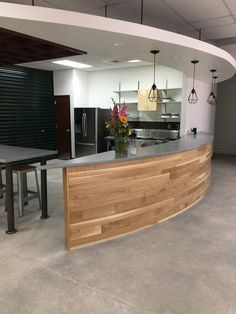 Concrete Counters and Low Sheen Polished Floors