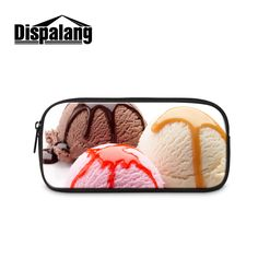 Portable Cute Pencil Bag For Children Girls Ice Cream Candy Women Cosmetic Bag Ladies Make Up Bag Student Pen Case Storage Bag