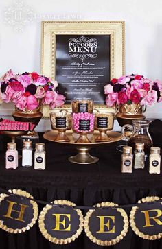 Oscars + Academy Awards Themed Party with Lots of Really Cute Ideas