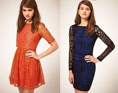 encaje en contraste Chloe, Zara, Asos, Dresses With Sleeves, Classy, Trends, Elegant, Long Sleeve, Outfits