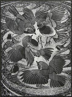 Colin See-Paynton. Irascibility of Robins. (wood engraving)