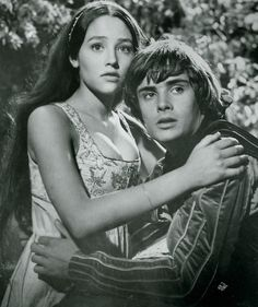 Leonard Whiting and Olivia Hussey in 1968's Romeo and Juliette