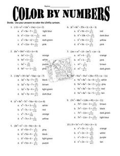 Printables Synthetic Division Worksheet division on pinterest synthetic students will use either long or to divide polynomials the answers be used color a lovely cartoon