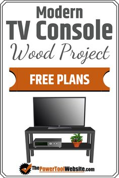 Free project plans for this modern simple elegant tv console. Simple joinery great wood project to practice your skills learn your tools and create functional wood furniture. Tv Console Modern, Modern Tv, Diy Your Furniture, Wood Furniture, Wood Projects That Sell, Easy Wood Projects, Woodworking For Kids, Easy Woodworking Projects, Tool Website