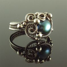 Siren Rings Series - pearl and silver   Flickr - Photo Sharing!