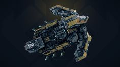 3D model: Starfall Tactics  Timur Eclipse dreadnought by Snowforged Entertainment