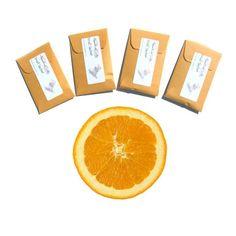 4 Orange Grove Sachets Scented Citrus Air by pebblecreekcandles, #orangesachets #orangedecor
