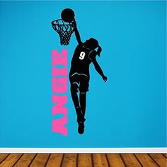 Items similar to Personalized Girl Basketball Player Wall Decal Removable Female Basketball Wall Sticker on Etsy Basketball Bedroom, Basketball Wall, Basketball Players, Basketball Pictures, Girls Basketball, Basketball Court, Girls Softball, Team Pictures, Sports Wall Decals