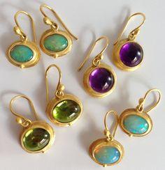 Peridot And Amethyst, Amethyst Earrings, Pendant Earrings, Stone Earrings, Drop Earrings, Contemporary Jewellery Designers, Jewelery, Fine Jewelry, Gemstones