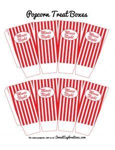 Free Printable: Popcorn bucket