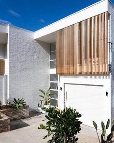 Garage Design, Exterior Design, House Design, Lofts, Interior Cladding, Window Grill Design, Surf House, Facade Lighting, Fresco