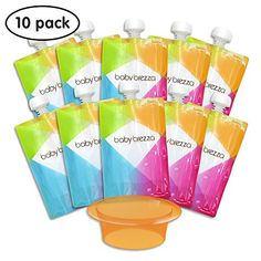 Refillable Baby Squeeze Pouches Kids Of All Ages Love Reusable Food Pouch Of Special Summer Sale