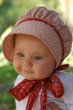 Calico Bonnet by norabeesbonnets on Etsy, $28.00