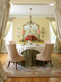 beautiful layers on that table and on the entry to the room