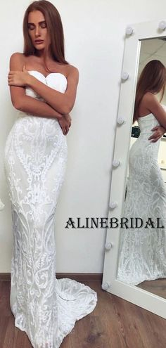 Sweatheart Lace Mermaid Long Wedding Dresses WD1209 #weddingdresses #weddingdress #bridalgown #weding #bridaldress #laceweddingdress #fashion #Ballgown #Country #boho #Princess #modest Country Wedding Dresses, Long Wedding Dresses, Bridal Dresses, Tulle Prom Dress, Homecoming Dresses, Vintage Beach Weddings, Wedding Dressses, Lace Mermaid, Lace Tops