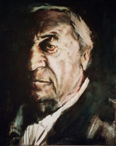 i daily enjoy this strong and beautiful portrait of Cees Nooteboom by kuin heuff