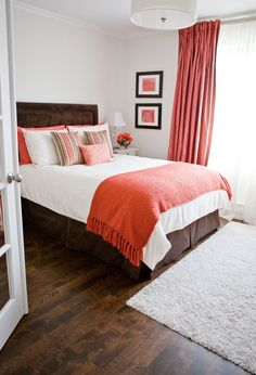 Decorating Ideas For Bedroom Transitional Design #coastalbedroomscoral