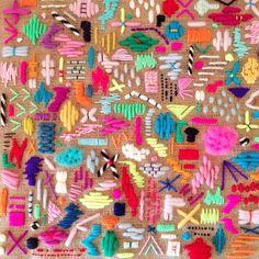 C'est beau (Les surprises de Fifi Mandirac) Embroidery Art, Cross Stitch Embroidery, Embroidery Patterns, Textiles Techniques, Embroidery Techniques, Contemporary Embroidery, Fabric Art, Textile Art, Fiber Art