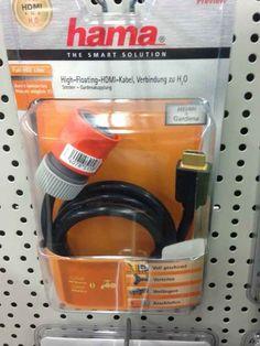 Und dieser Adapter von Gartenschlauch auf HDMI
