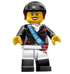 Horseback Rider Team GB Olympic Minifigures All Minifigure packets will be opened to guarantee the correct Minifigure – Comes complete with opened packets leaflet and accessories